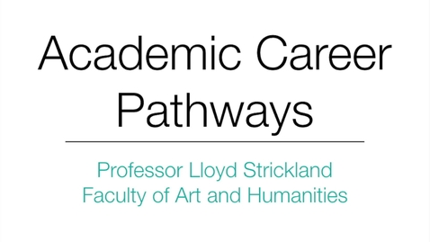 Thumbnail for entry Professor Lloyd Strickland