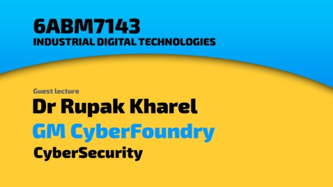 Thumbnail for entry Rupak Kharel - GM CyberFoundry - Cybersecurity