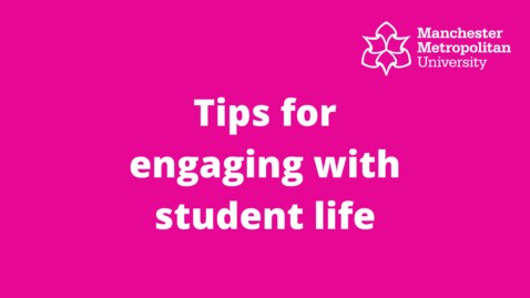 Thumbnail for entry Tips for engaging with student life