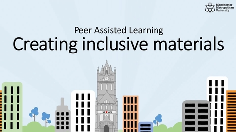 Thumbnail for entry Peer Assisted Learning - Creating Inclusive Learning Materials