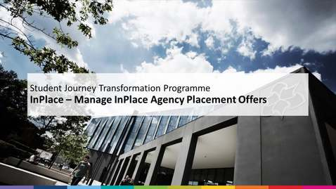 Thumbnail for entry Manage InPlace Agency Placement Offers