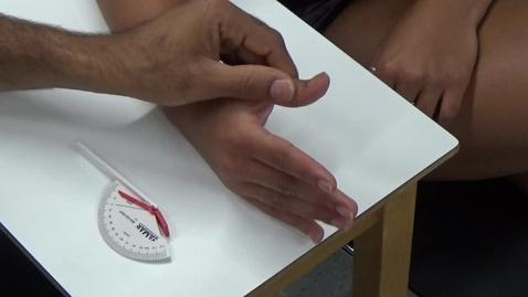 Thumbnail for entry Hand - Upper Quadrant - Measurement of Range of Movement