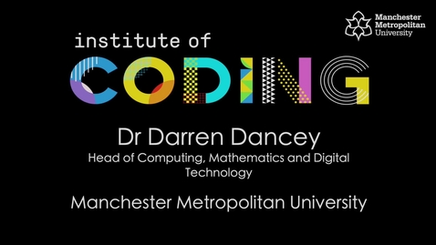 Thumbnail for entry Institute of Coding - Widening Participation