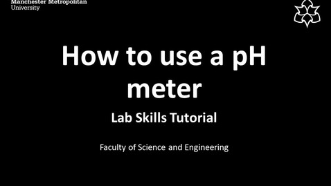 Thumbnail for entry How to use a pH Meter