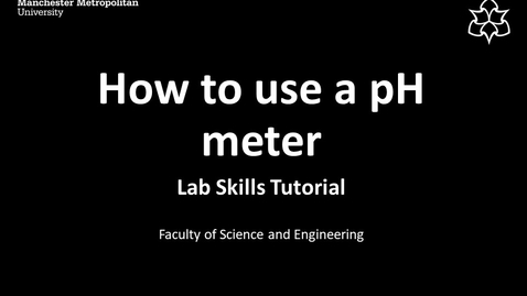 Thumbnail for entry pH measurement using a Jenway 3510 pH meter