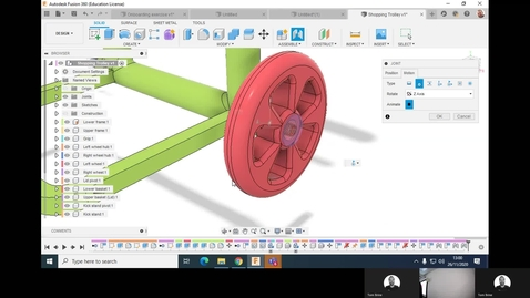 Thumbnail for entry Clip of 6ABM7143 - Fusion 360 - Joints and assemblies - Shopping trolley