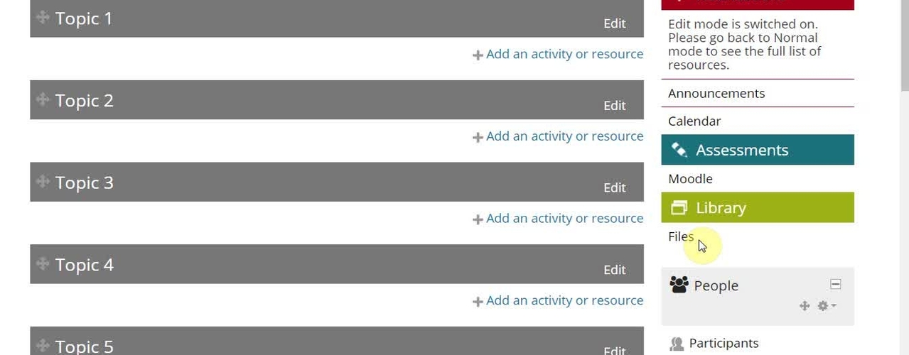 How to add video and audio resources to Moodle