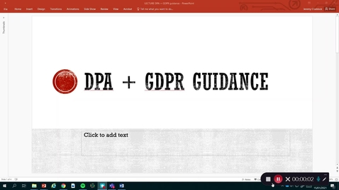 Thumbnail for entry Law and Ethics 1: Data protection guidance for journalists