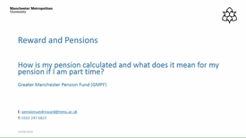 Thumbnail for entry How is my pension calculated and what does it mean if I am part-time? (GMPF)