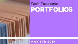 Thumbnail for entry Tech Tuesday - Portfolios Recording