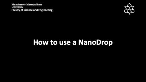 Thumbnail for entry NanoDrop