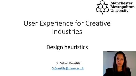 Thumbnail for entry Design heuristics