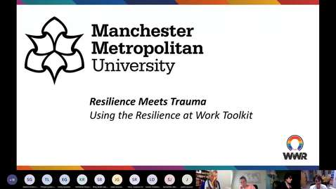 Thumbnail for entry Webinar: Thriving in Public Service - The Resilience at Work Toolkit - ESRC Festival of Social Science 2020