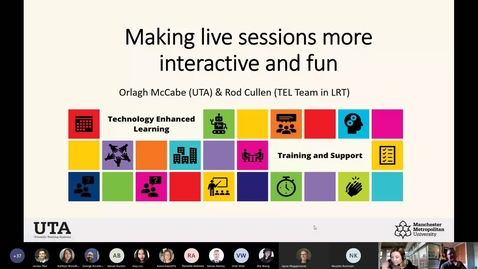 Thumbnail for entry Make live sessions more interactive and fun - 15th Oct 2020