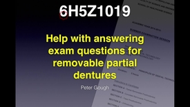 Thumbnail for entry 6H5Z1019 - Removable Partial Dentures - Exams Video