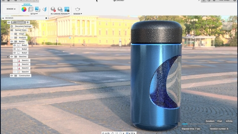 Thumbnail for entry Modeling a drinks flask in Autodesk Fusion 360
