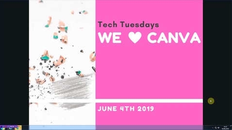 Thumbnail for entry Tech Tuesdays: We love Canva