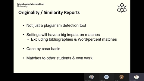 Thumbnail for entry Originality reports in TurnItIn submissions