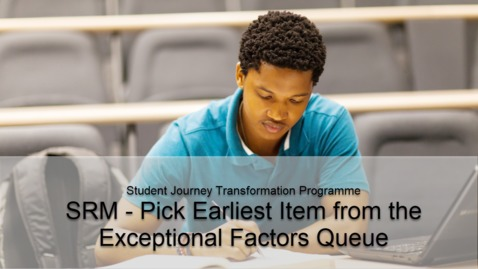 Thumbnail for entry SRM - Pick Earliest Item from the Exceptional Factors Queue