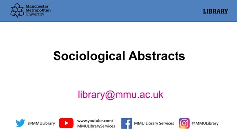 Thumbnail for entry Sociological Abstracts