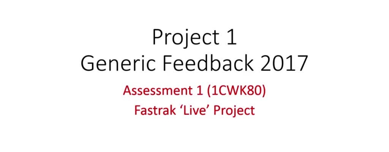 Project 1 Assessment 1