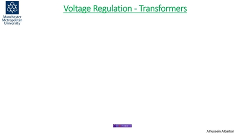Thumbnail for entry Voltage Regulation Exercise - .wmv