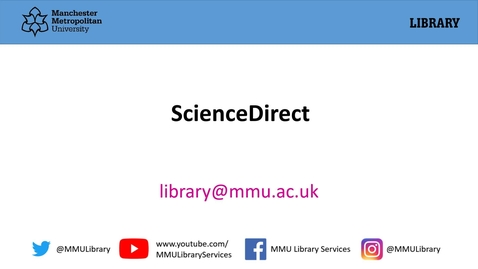 Thumbnail for entry ScienceDirect