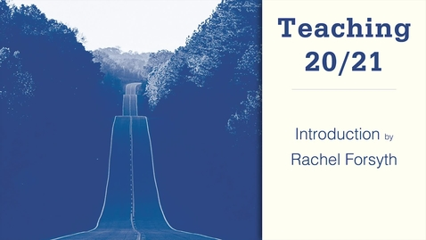 Thumbnail for entry Teaching 20/21: introduction