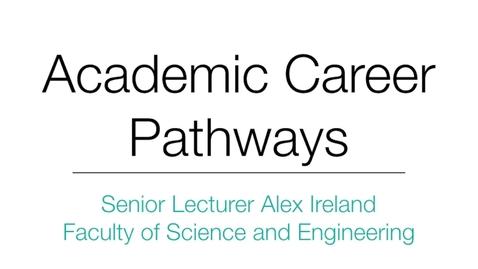 Thumbnail for entry  Senior Lecturer Alex Ireland