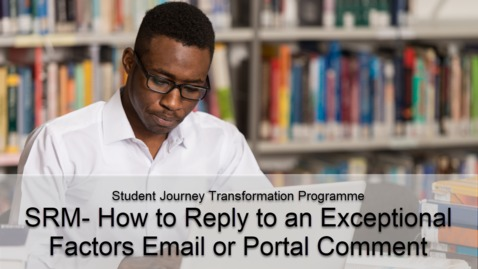 Thumbnail for entry SRM- How to Reply to an Exceptional Factors Email or Portal Comment