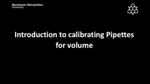 Thumbnail for entry Introduction to calibrating Pipettes for volume
