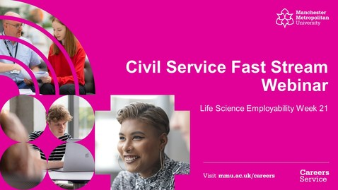Thumbnail for entry #LSEW21 Civil Service Fast Stream Webinar