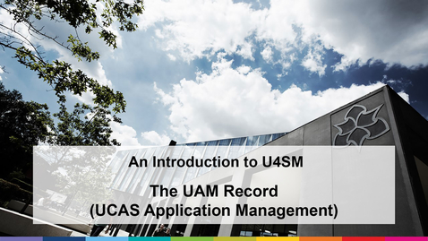Thumbnail for entry An Introduction to U4SM (2021)  -UAM Record