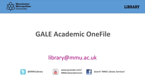 Thumbnail for entry Academic OneFile