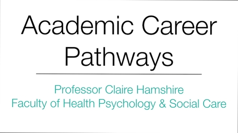 Thumbnail for entry Professor Claire Hamshire