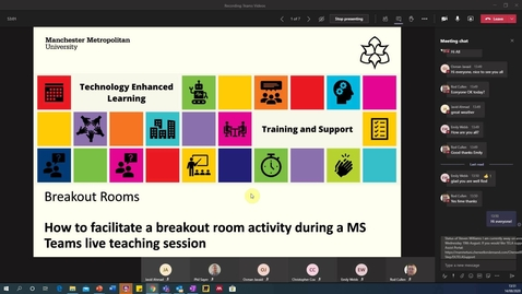 Thumbnail for entry MS Teams: How to facilitate breakout rooms in a live teaching session