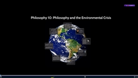 Thumbnail for entry UCW10 - Philosophy and the Environmental Crisis