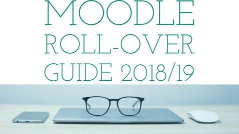 Thumbnail for entry Faculty of Business and Law: Roll-over guide 18/19