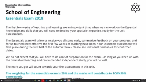 6e4z1003 Essential Assessment Guidance Mmutube It is an essential part of teaching and learning. mmutube manchester metropolitan university