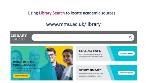 Thumbnail for entry Using Library Search to locate academic sources
