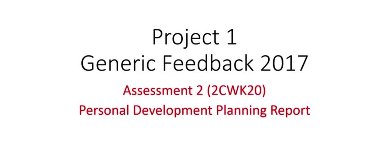Project 1 Assessment 2
