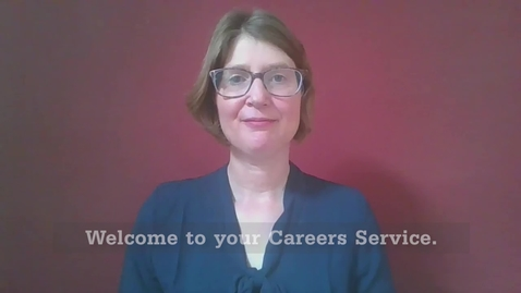 Thumbnail for entry Welcome from your Careers Service