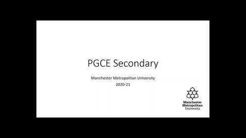 Thumbnail for entry PGCE secondary course overview