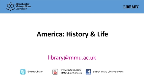 Thumbnail for entry America: History and Life