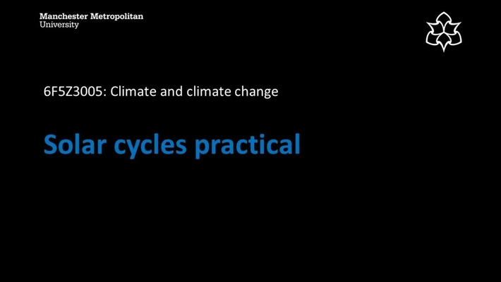 6F5Z3005 Solar Cycles Practical
