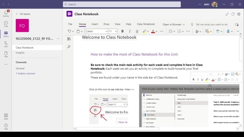 Thumbnail for entry How to access Class Notebook via the Teams app