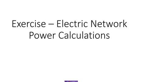 Thumbnail for entry Power Calculation -1 - .wmv