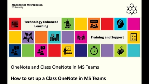 Thumbnail for entry MS Teams: How to create your class OneNote