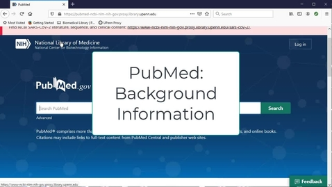 Thumbnail for entry PubMed Overview Video