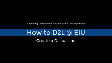 Thumbnail for entry How to Create a Discussion